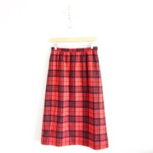 Vintage Pendleton • Plaid Tartan Skirt